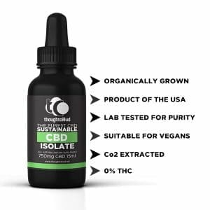 Organic Isolate CBD (750mg) in coconut oil