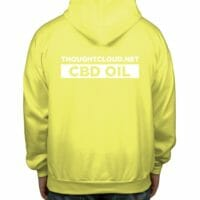 ThoughtCloud CBD Oil Bright Yellow Back