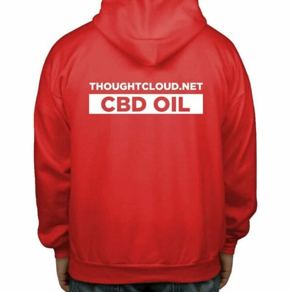 ThoughtCloud CBD Oil Red Back Hoodies