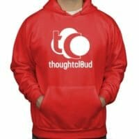 ThoughtCloud CBD Oil Red Front Hoodies
