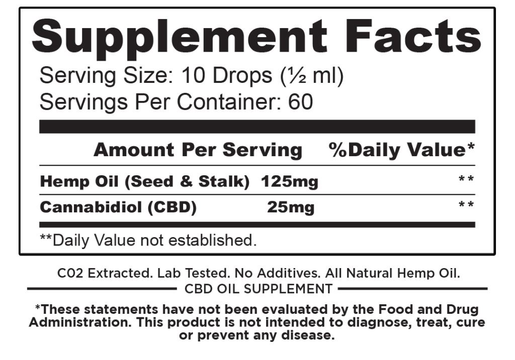 1500mg Hemp CBD Oil