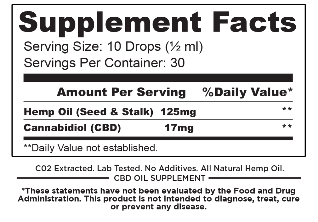 Full Spectrum CBD 500mg Hemp