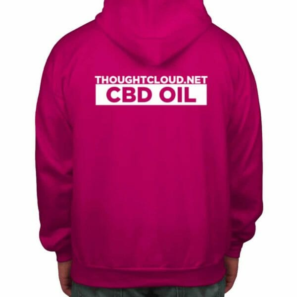 ThoughtCloud CBD Hoodie fuchsia back