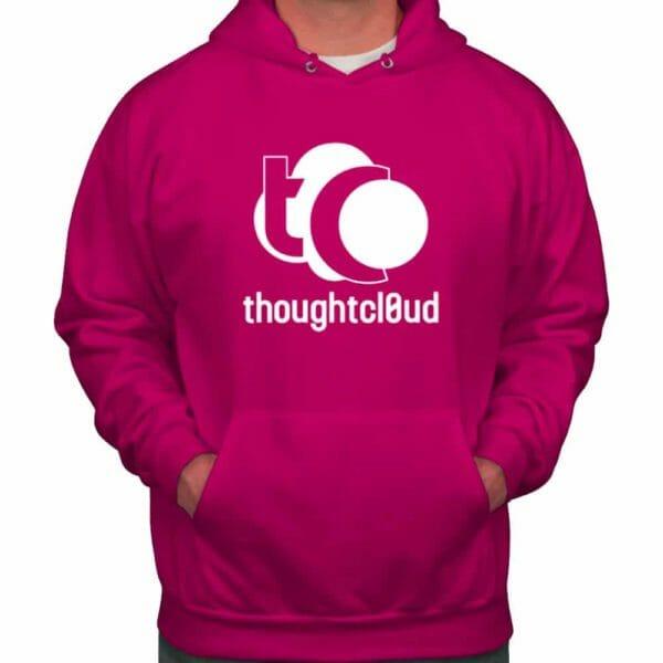 ThoughtCloud CBD Hoodie fuchsia front