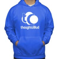 ThoughtCloud CBD Oil Bright Blue Front