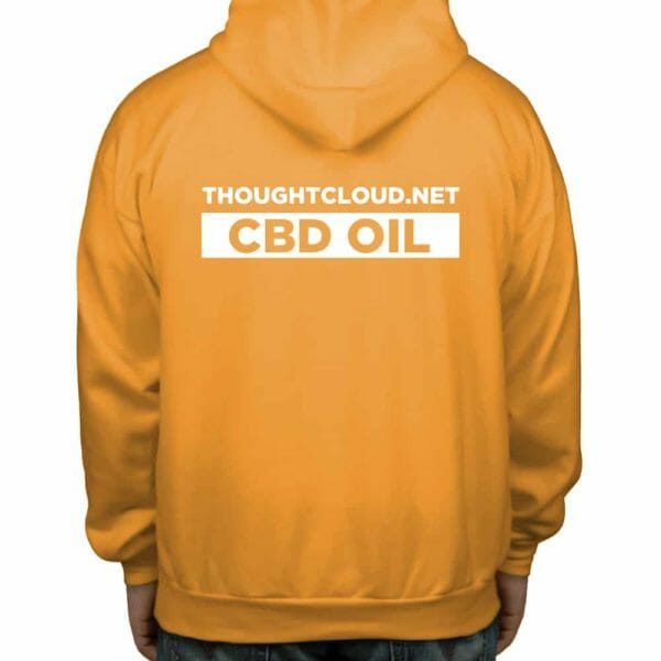 ThoughtCloud CBD Oil Bright Orange Back