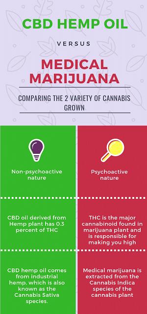 Major Benefits Of CBD Hemp Oil Over Medical Marijuana