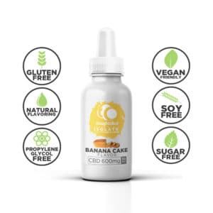 Isolate CBD Vape Juice, Banana Cake Flavour 600mg Isolate CBD Vape Oil,Flavour Isolate CBD Vape Oil,Isolate CBD Vape Oil