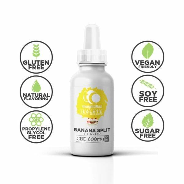 Isolate CBD Vape Oil,Banana Split Flavour 600mg Isolate CBD Vape Oil