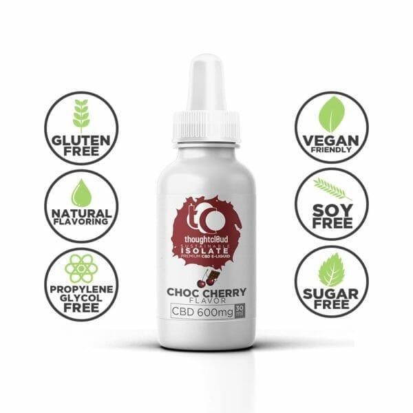 Choc Cherry 600mg Flavour Isolate CBD Vape Juice Oil,Flavour Isolate CBD Vape Juice Oil,Isolate CBD Vape Juice Oil,Vape Juice Oil