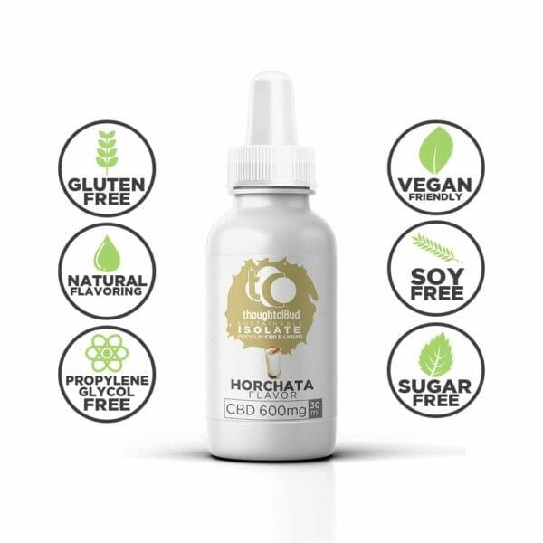 Horchata 600mg Flavour Isolate CBD Vape Juice Oil