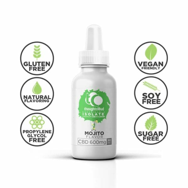 Mojito 600mg Flavour Isolate CBD Vape Juice Oil