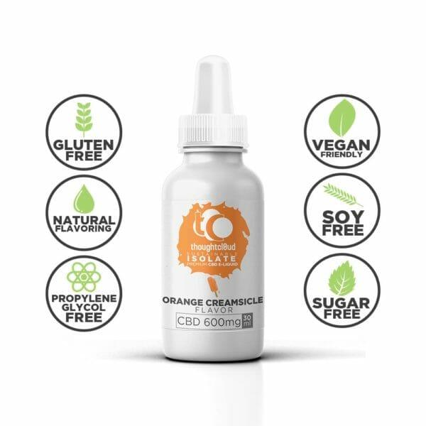 Orange Creamsicle 600mg Flavour Isolate CBD Vape Juice Oil