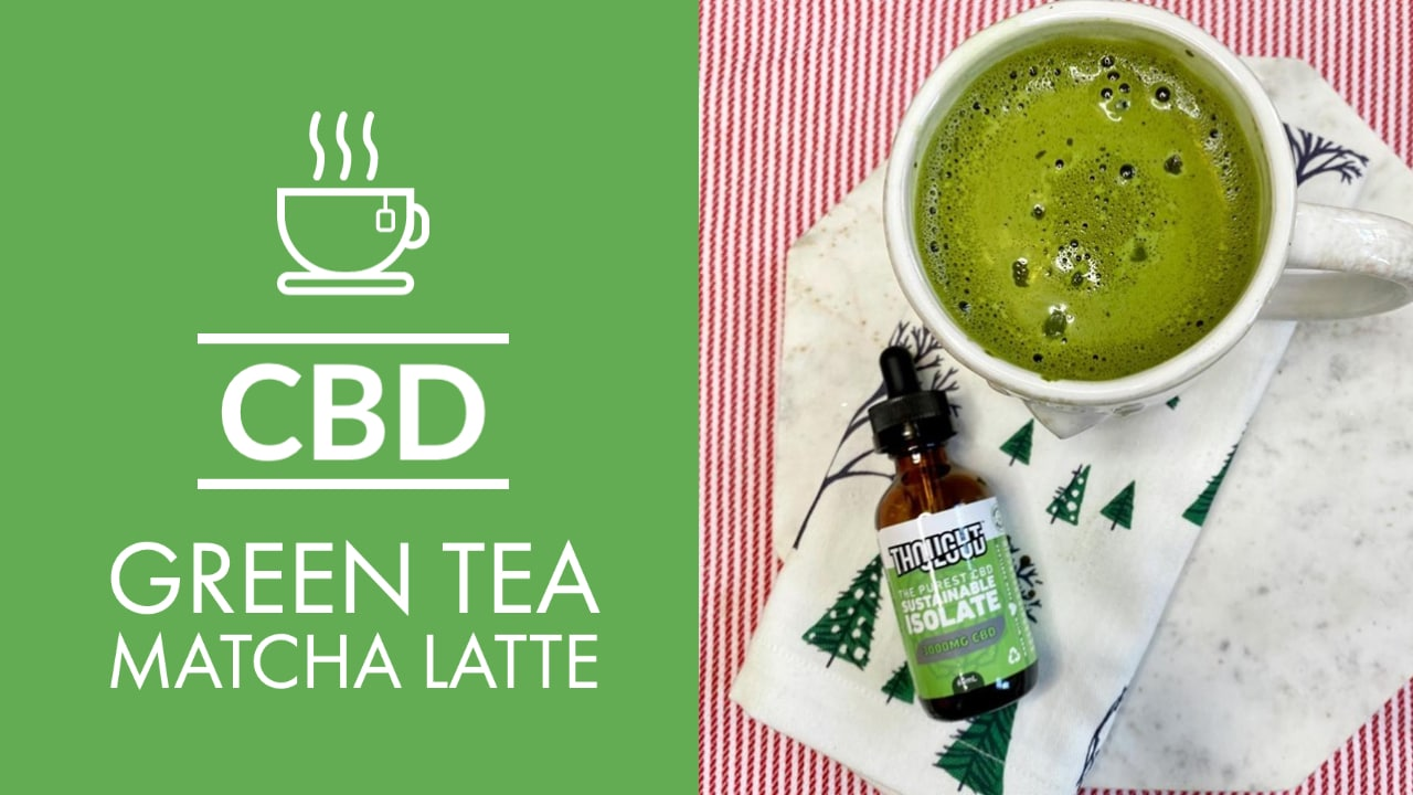 CBD Green Tea Matcha Latte Organic And Vegan