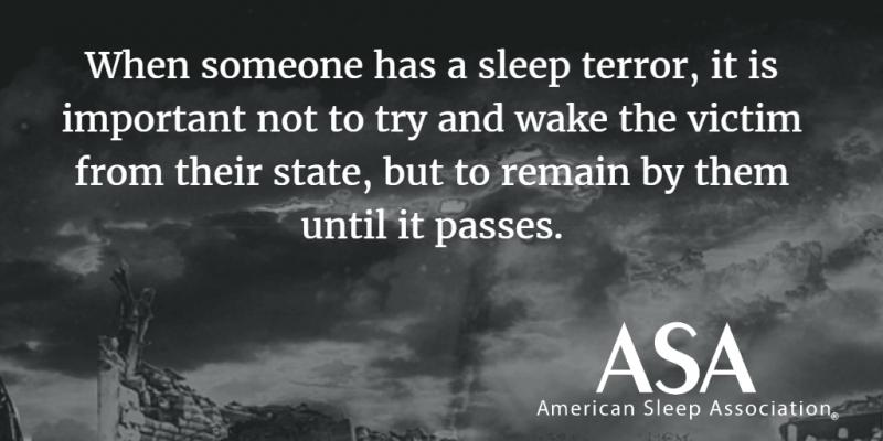 CBD for sleep terrors, night terrors