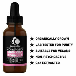 High CBC 600mg Brain and Gut Health Formula in Coconut Oil